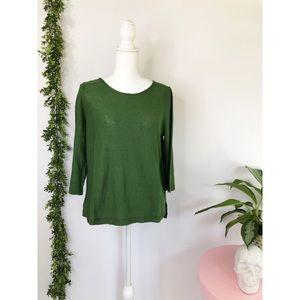 J Jill green blouse